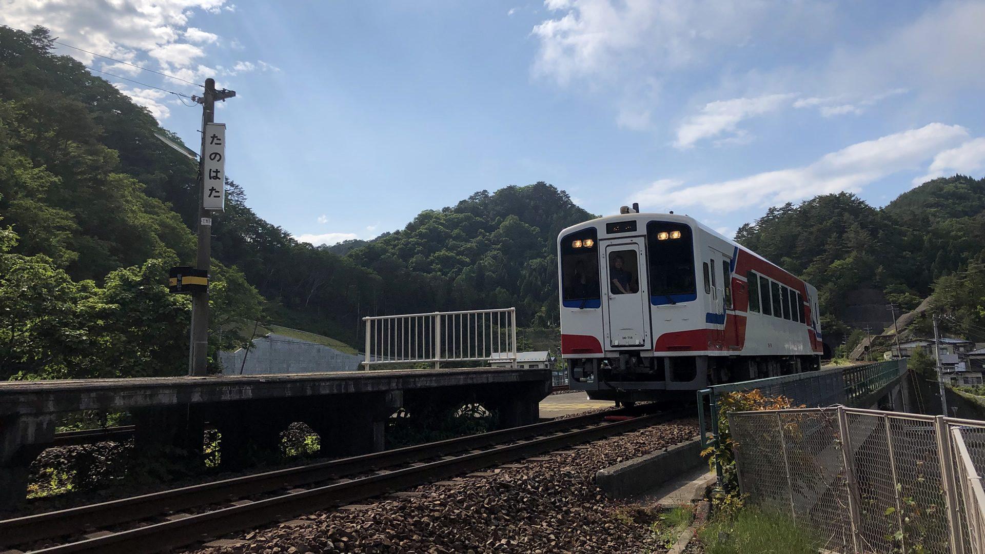2019年3月23日、<br /> 久慈駅(久慈市)から盛駅(大船渡市)までの163kmの区間が<br /> 三陸鉄道リアス線として一つにつながりました。